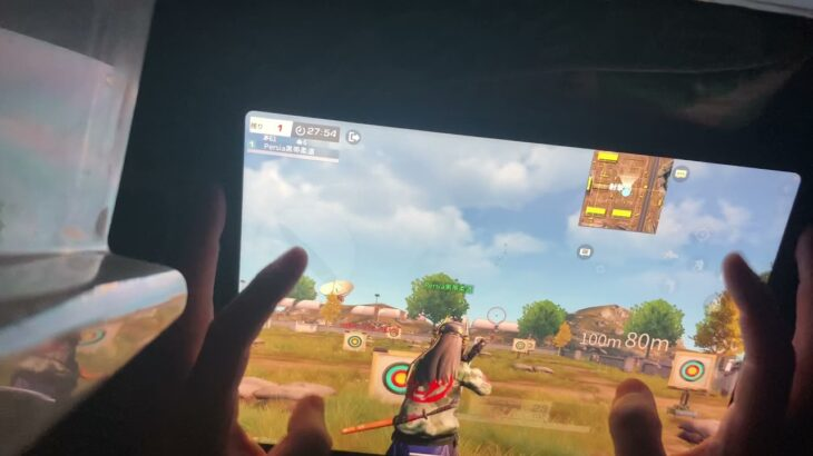 【荒野行動】 iPad Proの手元